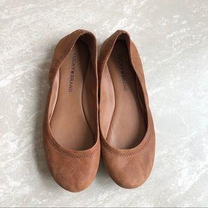 [Lucky Brand] Brown Emmie Ballet Flats